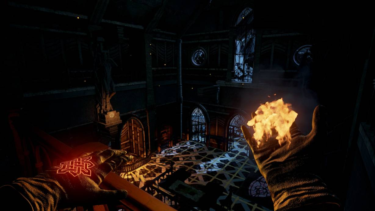 The Wizards game - a VR spellcaster